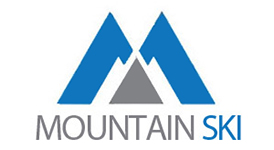 mountain ski logo square